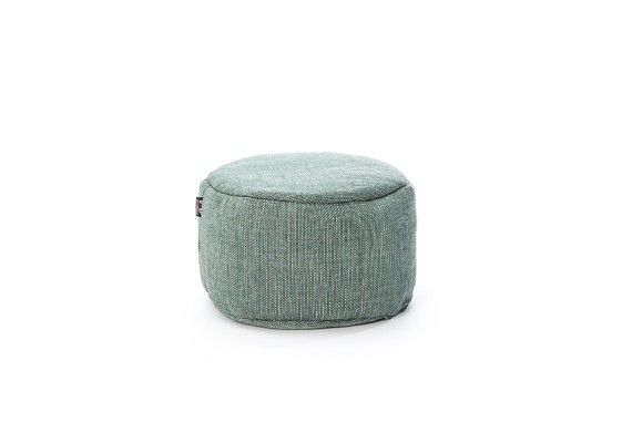 Dotty poef rond turquoise