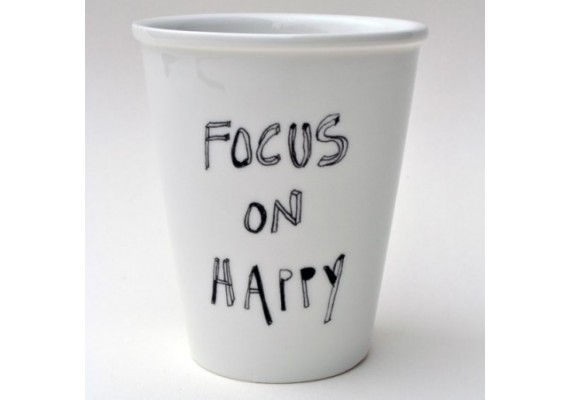 Focus on happy beker