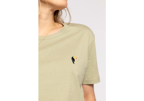 Sage green with toucan
