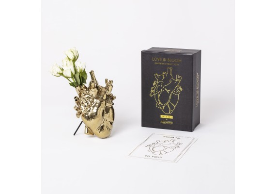 Seletti vaas Love in Bloom gold