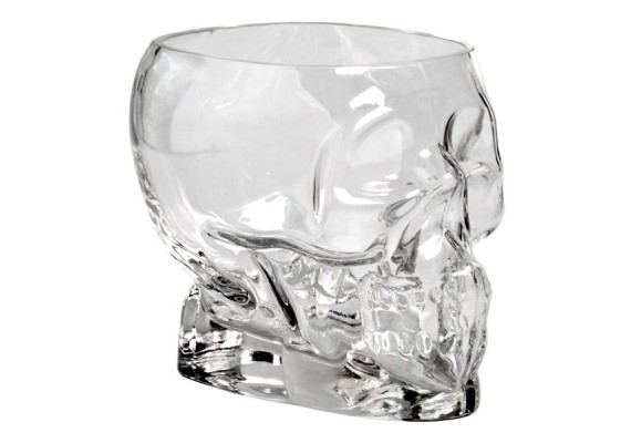 Tiki skull glass