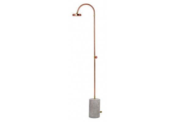 Aquart outdoor shower copper
