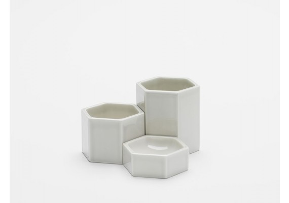 Set hexagonal containers