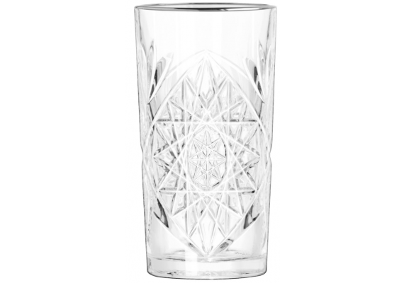 Hobstar longdrink glass