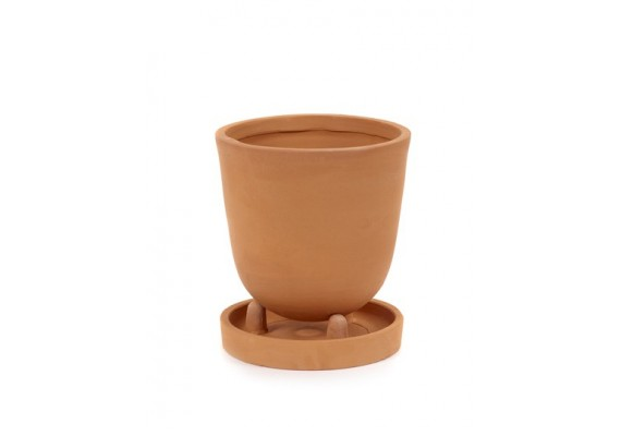 Conical pot with saucer