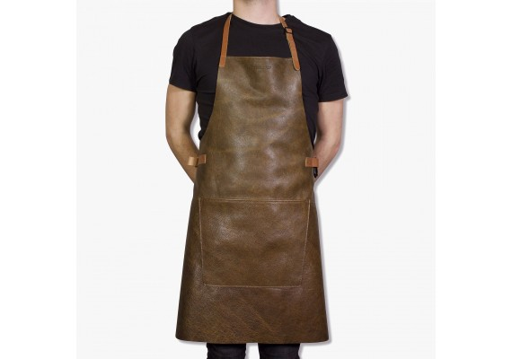 Vintage leather BBQ apron