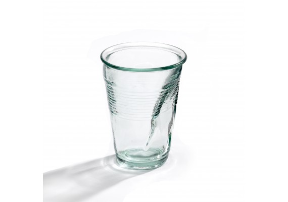 Crushed cup glass
