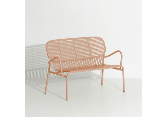 Week-end bench with armrests