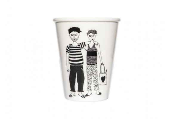 Cup gay couple