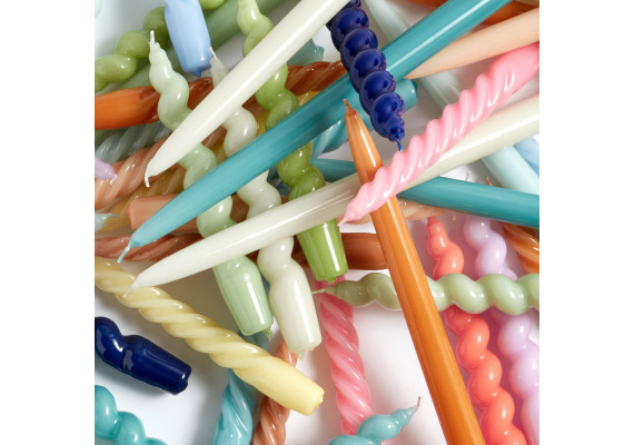 HAY spiral candles