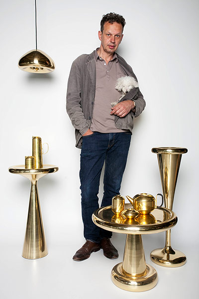 Tom Dixon at his shop in